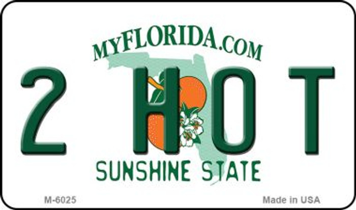 2 Hot Florida State License Plate Magnet M-6025
