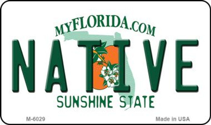 Native Florida State License Plate Magnet M-6029