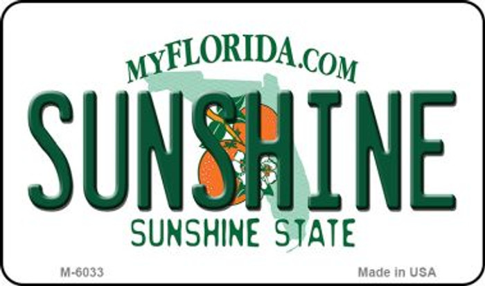 Sunshine Florida State License Plate Magnet M-6033