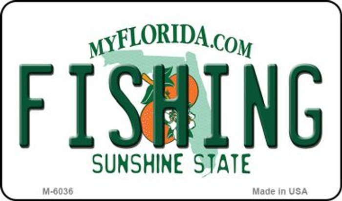 Fishing Florida State License Plate Magnet M-6036