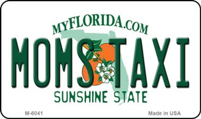 Moms Taxi Florida State License Plate Magnet M-6041