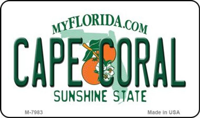 Cape Coral Florida State License Plate Magnet M-7983