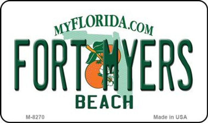 Fort Myers Beach Florida State License Plate Magnet M-8270
