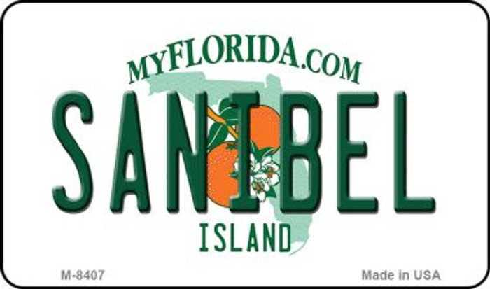 Sanibel Florida State License Plate Magnet M-8407