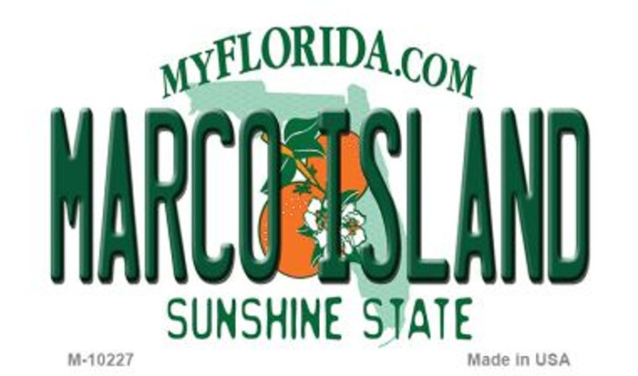 Marco Island Florida State License Plate Magnet M-10227