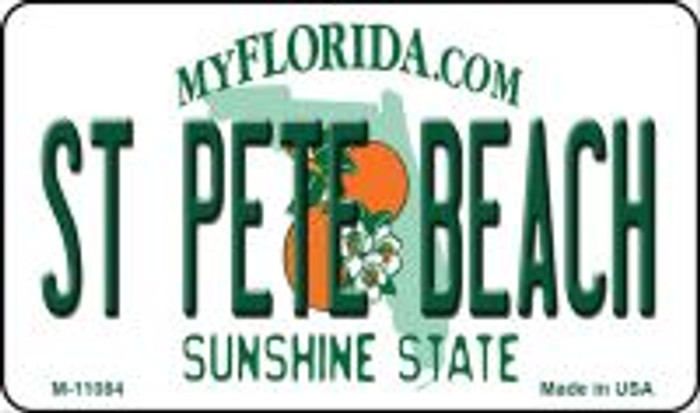 St Pete Beach Florida State License Plate Magnet M-11084