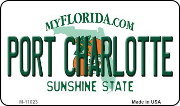 Port Charlotte Florida State License Plate Magnet M-11023