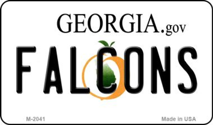 Falcons Georgia State License Plate Magnet M-2041