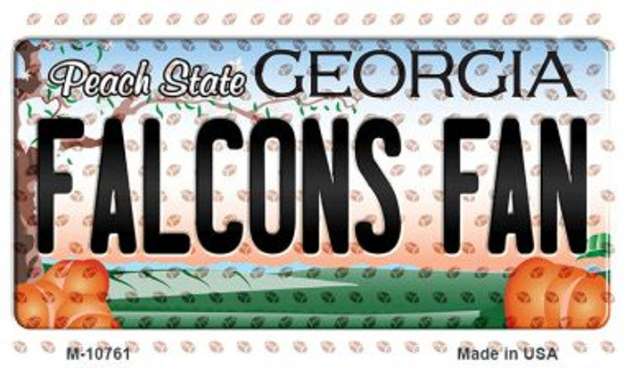 Falcons Fan Georgia State License Plate Magnet M-10761