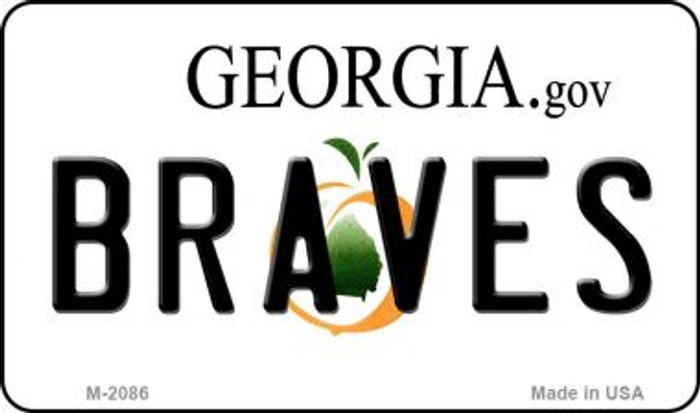 Braves Georgia State License Plate Magnet M-2086