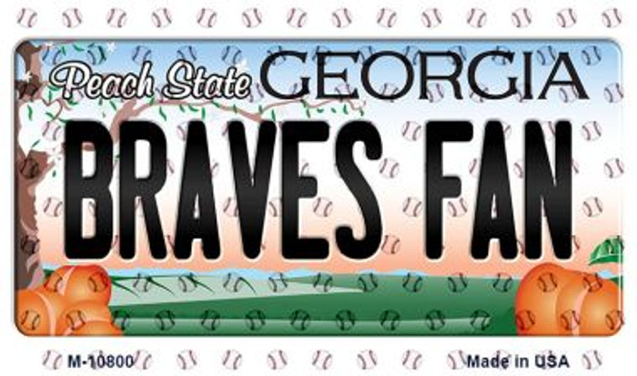Braves Fan Georgia State License Plate Magnet M-10800