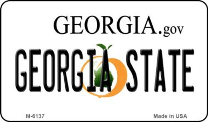 Georgia State University License Plate Novelty Magnet M-6137