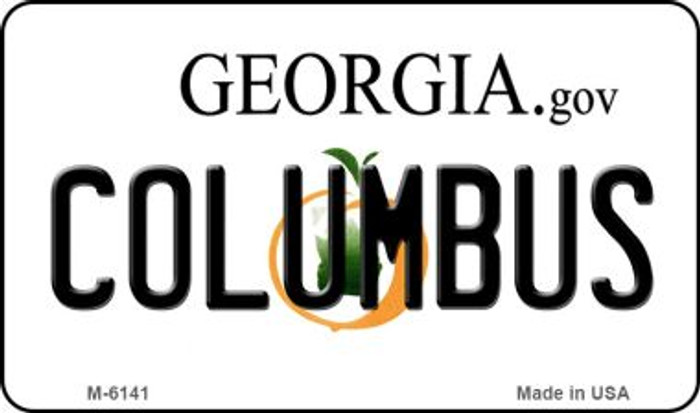 Columbus Georgia State License Plate Novelty Magnet M-6141