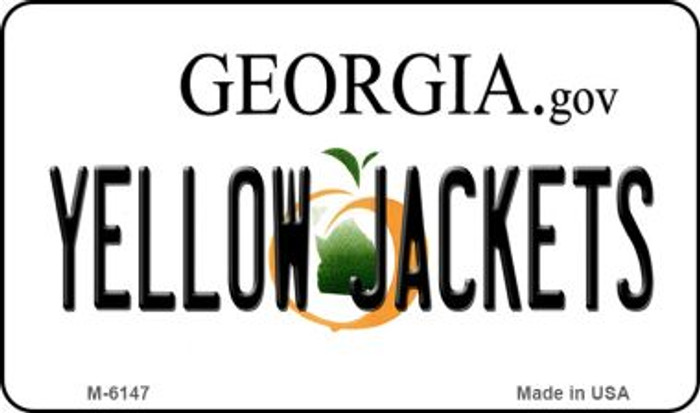 Yellow Jackets Georgia State License Plate Novelty Magnet M-6147
