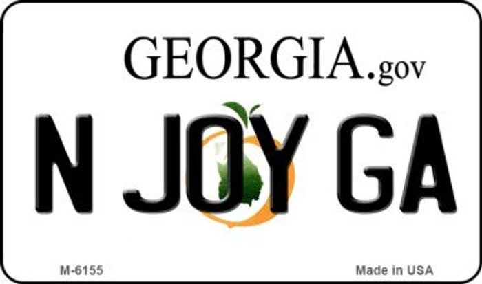 N Joy GA Georgia State License Plate Novelty Magnet M-6155