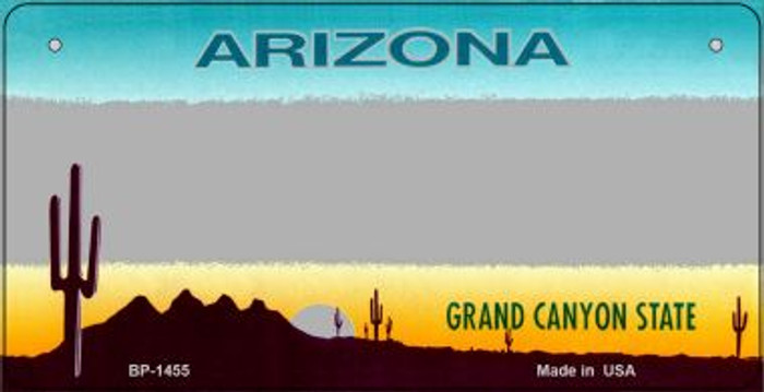 Arizona Gray State Background Novelty Bicycle License Plate