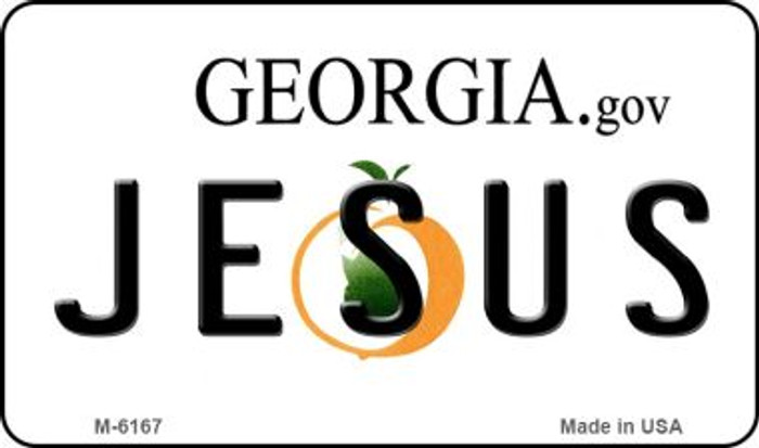 Jesus Georgia State License Plate Novelty Magnet M-6167