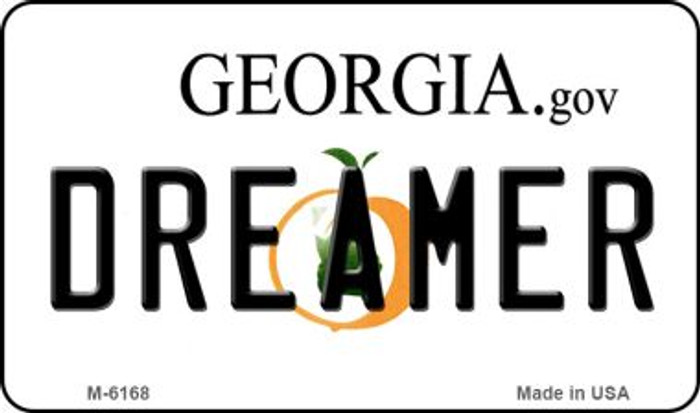 Dreamer Georgia State License Plate Novelty Magnet M-6168