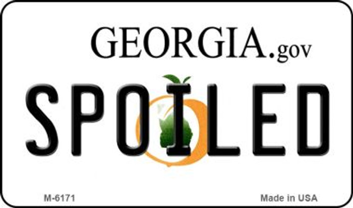 Spoiled Georgia State License Plate Novelty Magnet M-6171