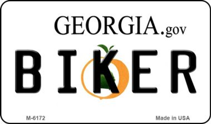 Biker Georgia State License Plate Novelty Magnet M-6172