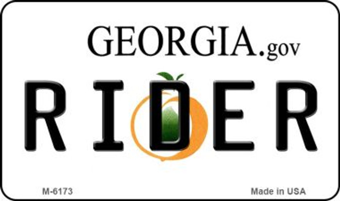 Rider Georgia State License Plate Novelty Magnet M-6173