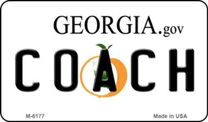 Coach Georgia State License Plate Novelty Magnet M-6177