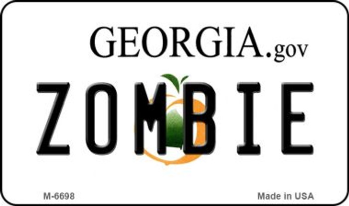Zombie Georgia State License Plate Novelty Magnet M-6698