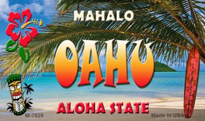 Oahu Tiki Novelty Metal Magnet M-7829