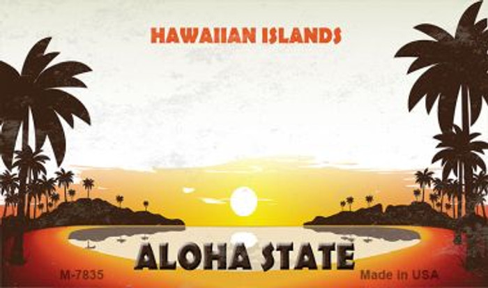 Blank Hawaiian Islands Novelty Metal Magnet M-7835