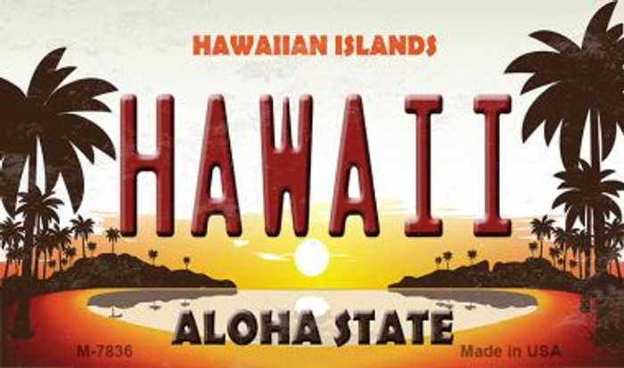 Hawaiian Islands Novelty Metal Magnet M-7836