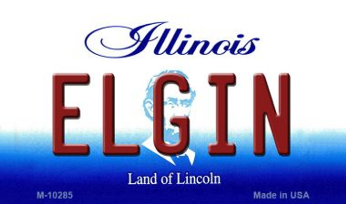 Elgin Illinois State License Plate Magnet M-10285