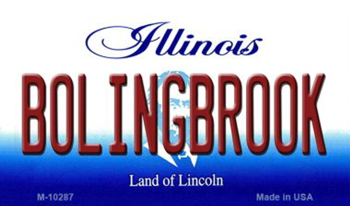 Bolingbrook Illinois State License Plate Magnet M-10287