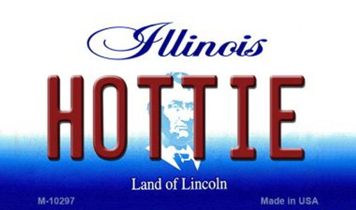 Hottie Illinois State License Plate Magnet M-10297