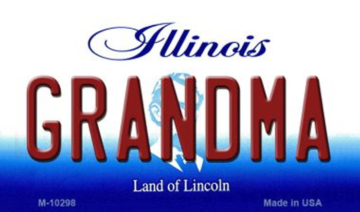 Grandma Illinois State License Plate Magnet M-10298