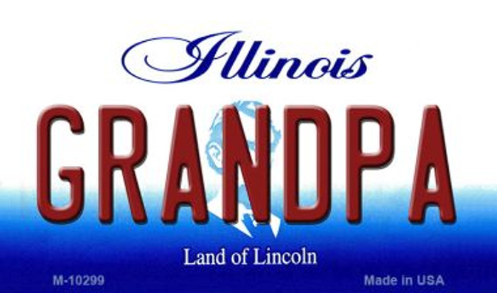 Grandpa Illinois State License Plate Magnet M-10299