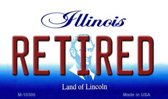 Retired Illinois State License Plate Magnet M-10300
