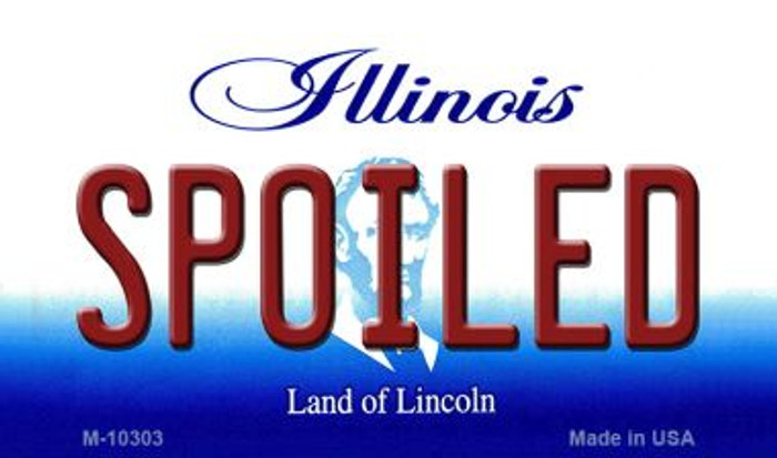 Spoiled Illinois State License Plate Magnet M-10303