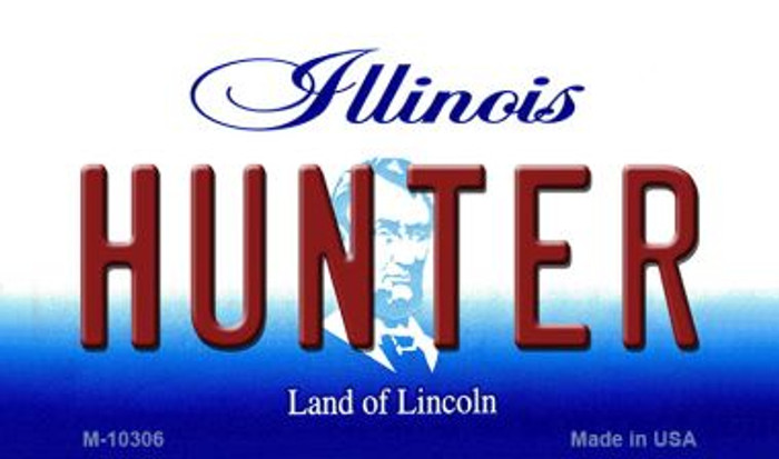 Hunter Illinois State License Plate Magnet M-10306