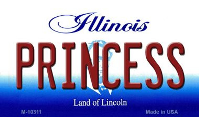 Princess Illinois State License Plate Magnet M-10311