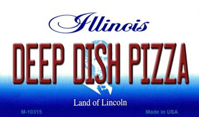 Deep Dish Pizza Illinois State License Plate Magnet M-10315