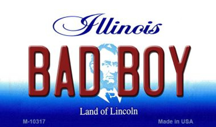 Bad Boy Illinois State License Plate Magnet M-10317