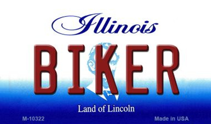 Biker Illinois State License Plate Magnet M-10322