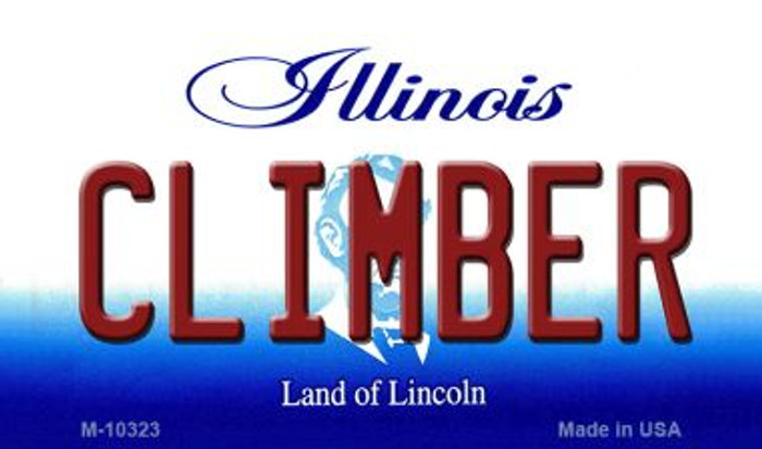 Climber Illinois State License Plate Magnet M-10323
