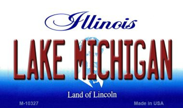 Lake Michigan Illinois State License Plate Magnet M-10327