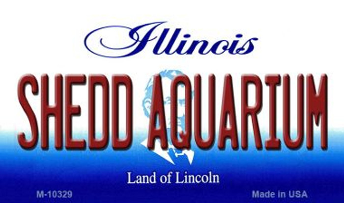 Shedd Aquarium Illinois State License Plate Magnet M-10329