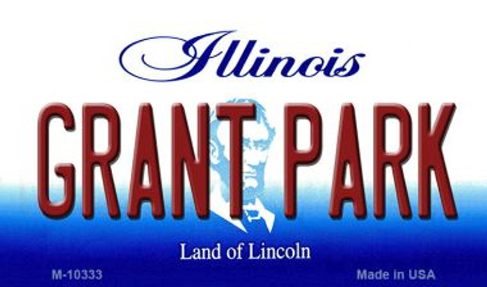 Grant Park Illinois State License Plate Magnet M-10333