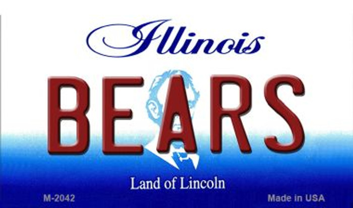 Bears Illinois State License Plate Magnet M-2042