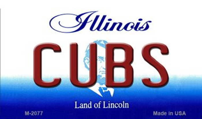 Cubs Illinois State License Plate Magnet M-2077