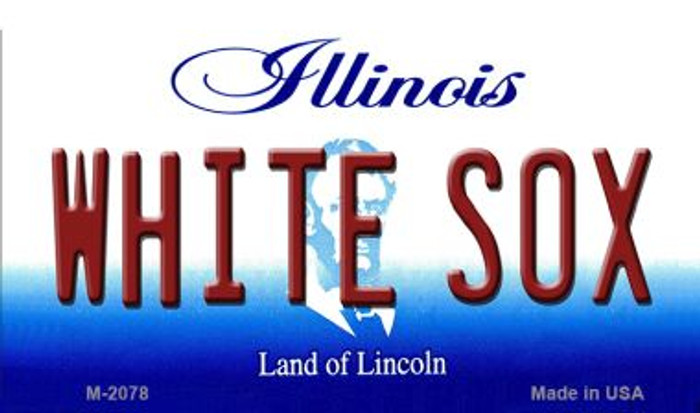 White Sox Illinois State License Plate Magnet M-2078