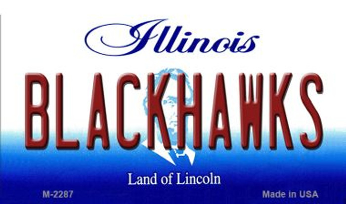 Blackhawks Illinois State License Plate Magnet M-2287